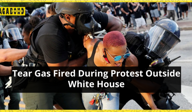 Tear Gas Fired During Protest outside White House over Black Man's Death